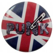 Punk - 'Safety Pin 2' Button Badge